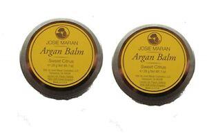 2x Josie Maran Argan Balm Citrus Nourish & Protect Solid Argan Oil 1 oz Travel