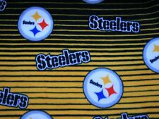 1-NFL PITTSBURGH STEELERS PRINTED FLEECE BODY PILLOW CASE -BLACK BACK 20X52
