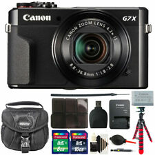 Canon G7X Mark II PowerShot 20.1MP Digital Camera + 24GB Deluxe Accessory Kit