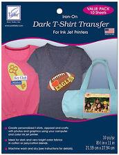 June Tailor Dark T-Shirt Transfer Sheets 10 pk.. ~ NEW
