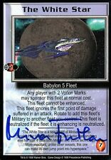 BABYLON 5 CCG Mira Furlan PREMIER EDITION The White Star AUTOGRAPHED
