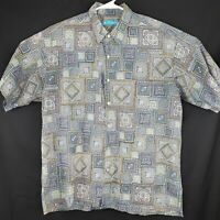 Tori Richard Mens Large Shirt Hawaiian Camp Button Front Multi Color