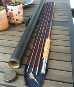 Vintage Abbey & Imbrie Bamboo Fly Rod - 9', 3/2 Pc, ~5wt, w/Orig Sock & Tube