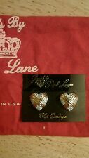 Jewels by Park Lane new cross my heart clip earrings Vintage $84