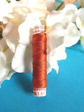 """869B / Superb Coil Drawstring Silk Gutermann """" Red Coral """" N° 351"""
