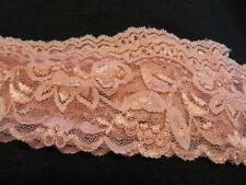 Vintage Rose Pink Lingerie Stretch Lace 7 Yards