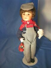 "Wonderful 10"" Porcelain Reproduction Railroad Conductor Doll By Margie Costa"