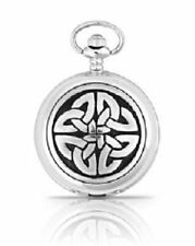 Engraved Celtic Triag Knot Pewter Pocket Watch  Chain A.E.Williams British #4813