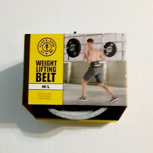 "Golds Gym M/L Padded Double Leather Weight Lifting Belt 30""-48"" NIB"