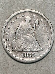 1875-S Silver 20 Cent Piece VF-XF