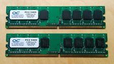 OCZ 1GB(2X512) PC2-5400 DDR2 667MHz OCZ26671024VDC-K Desktop Memory Ram