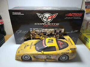 2001 4 Drivers #2 GM Goodwrench Corvette Overall Winner 1:18 Grand-Am Action MIB