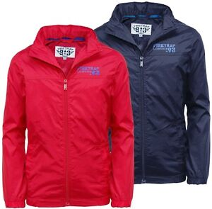 Boys Raincoat Jacket Official Firetrap 2-13 Years Old Red Or Blue