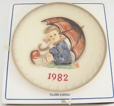 Goebel Hummel 1982 12th Annual Plate Hum275 w Box Umbrella Girl