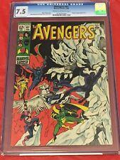 AVENGERS 61 CGC 7.5 Roy Thomas John Buscema George Klein Doctor Strange 1969