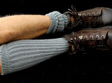 12 Men's Charcoal Gray Slouch Socks for Boots Work Play Sexy Warm Sz 7-10 Flawed