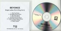 BEYONCE Single Ladies (Put A Ring On It): Remixes 2008 UK 8-track promo only CD