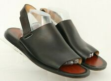 Bally Palandino Black Leather Open Toe Slingback Sandals Italy Men's US 10