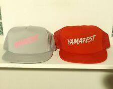 vintage unworn YAMAFEST YAMAHA snapback hat LOT OF 2 - trucker foam mesh