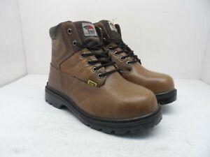 """Avenger Men's 6"""" Steel Toe Internal Metguard Work Boots A7302 Brown Size 7W"""