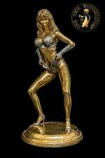 Bronze Sculpture Figure Dolly Buster Erotic Handmade Sexual Statue Art Woman