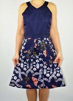New Ted Baker Bethah Kyoto Gardens Aline Dress Blue Navy Wedding Size 5 16 AY