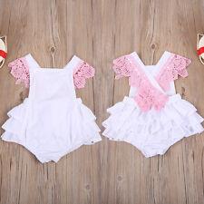 Newborn Infant Kids Baby Girls Clothes Jumpsuit Romper Bodysuit Sunsuit Outfits