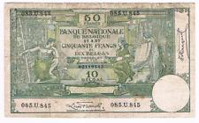 "RR   50 Frank/Francs/BELGAS  type ""1909""  Montald  17/03/1927   Morrin 41   RARE"