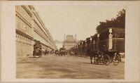 Francia Parigi Istantanea Rue Da Rivoli Foto Formato CDV # Vintage Albumina