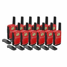 12 x Motorola TALKABOUT T42 12 Pack Two-Way Radios in Red PMR 446 Compact