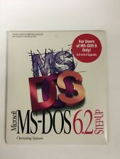 """MS Dos Step Up From 6.0 To 6.2 Factory Sealed NOS New Old Stock 3.5 """" Disk"""