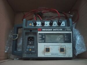 MEGGER DET5/4R FOUR TERMINAL GROUND EARTH TESTER - UNTESTED SPARES OR REPAIR