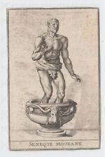 Kupferstich ca. 1750 The Death of Seneca Seneque Mourant Tod des Seneca
