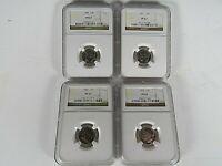 1950,1951,1952,1953 P, 4-Coin Set, Roosevelt Dimes  NGC Pf 67, Nice Set