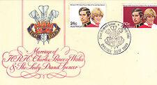 1981 Royal Wedding HRH Prince Charles & Lady Diana Spencer FDC - COA Sydney 2000
