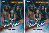 (2) 2019 Topps WWE SMACKDOWN Live! Wrestling Cards 71c Retail BLASTER Box LOT