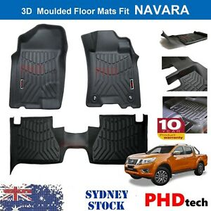 3D All Weather Floor Mats Fit NISSAN Navara NP300 D23 Manual ONLY  2015~2021