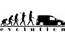 Evolución VW Caddy Van Vinilo Pegatina Calcomanía Volkswagen Caddy Calcomanía Pegatinas TDI