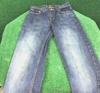 Akademiks Women's Blue Denim Jeans Casual Designed Pockets 100% Cotton Sz 12