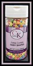 Daisy Shapes Multi-Color Edible Confetti Sprinkles 2.4 oz from CK 11616 - NEW