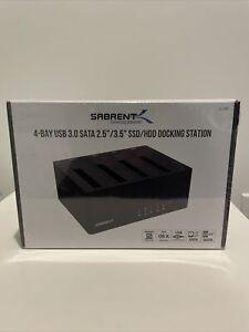 "Sabrent 4-Bay USB 3.0 SATA 2.5""/3.5"" SSD/HDD Docking Station (DS-U3B4) Chia Farm"