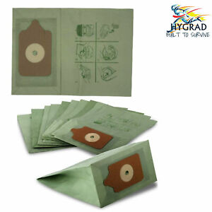 10/20 PACK FITS NUMATIC HENRY HOOVER VACUUM CLEANER DOUBLE LAYER PAPER DUST BAGS