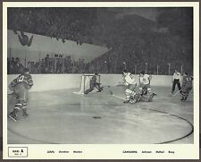 1945-54 Quaker Oats SERIES A, No.4, Leafs vs Habs, Gardner Scores on McNeil
