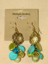 Jjb 894, Beautifl Glass And Gold Tone Accented Earrings From Lifestyle Studio