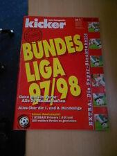 Kicker Bundesliga Sonderheft 1997-98 ohne Stecktabelle