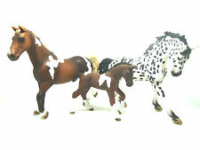 Q13) Schleich Set Trakehner with Foal and knappstrupper Unrecorded Without Flag