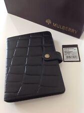 Stunning Mulberry Agenda Organiser Filofax In Black Nile Leather Brand New