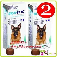 Bravecto  Large Dogs 20-40kg 2 Chews/Flea/Tick Treatment = 6 mths treatment SALE