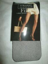 Le Bourget Fishnet Fashion TIGHTS Pantyhose Small-Medium Cappuccino Brown NEW