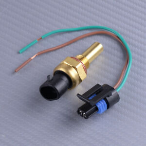 Front Coolant Temperature Sensor & Connector Fit for Buick Cadillac GMC Hummer